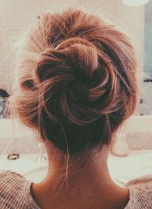 Messy bun hair inspo