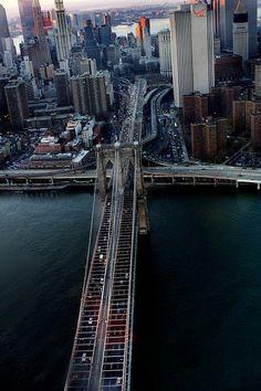 NYC. Brooklyn Bridge, looking NW