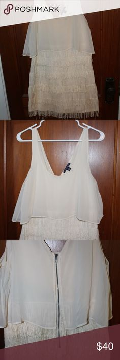 """White """"American Eagle"""" Dress White America Eagle dress. Dress falls to about mid thigh. Fun to wear! American Eagle Outfitters Dresses Midi"""
