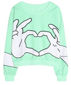 Autumn New Fashion Hoodies For Women Finger Printed Pullovers O- Short Neck Sweaters Casual Wear