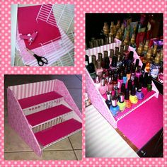 My Homemade nail polish storage.. simple and really easy to make..