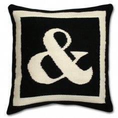 Can have needlepoint pillows made in many colors & styles. Also sayings...