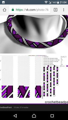 Bead Crochet Patterns, Beaded Crochet, Bead Crochet Rope, Beading Patterns, Beaded Jewelry, Beaded Necklace, Beaded Bracelets, Bead Loom Designs, Patterned Sheets