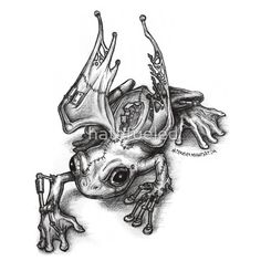 Angry S.Z.D. Frog ( steam punk frog) on redbubble.com