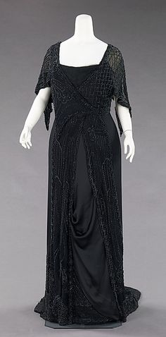 Mourning dress Designer: Charlotte Duclos  Date: 1910–12 Culture: French Medium: silk, jet, glass Accession Number: 2009.300.1114
