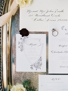 Photography : Allen Tsai Photography | Stationery :  The Left Handed Calligrapher  Read More on SMP: http://www.stylemepretty.com/2016/12/26/winter-wedding-inspo/