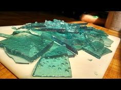 """Made this """"Blue Ice Candy"""" (aka sugar glass) for a decoration for my 7 year old daughter's cake. My video production is ... not great, but maybe it'll help s..."""
