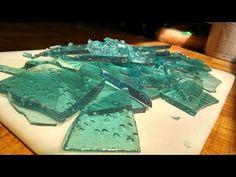 Cristales con azúcar glass.