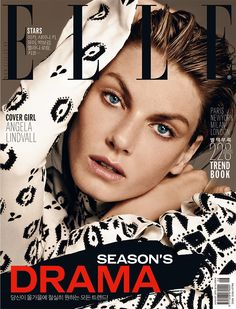Angela Lindvall by Hong Jang Hyun for Elle Korea August 2015 cover - Louis Vuitton Fall 2015