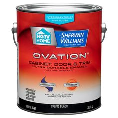 HGTV HOME by Sherwin-Williams Ovation Black High-Gloss Latex Interior/Exterior Paint and Primer in One (Actual Net Contents: 128-fl oz)