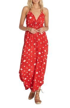 Free shipping and returns on Billabong Don't Mind Maxi Dress at Nordstrom.com. A high drawstring waistband adds flattering definition to this breezy maxi dress done in a bright shade of hibiscus red that will look perfectly a home on the shores of Hanalei Bay.
