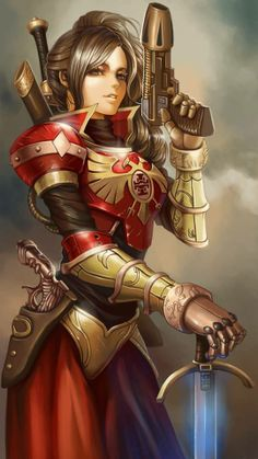 You don't see many female Inquisitors, so this art makes me happy.