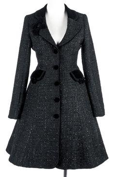 Pyon Pyon LY-020 ash grey elegant lolita autumn coat