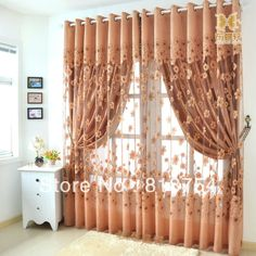 Home textile Home design Rustic quality carved curtain season bottle blind curtain fabric curtains for windows free shipping