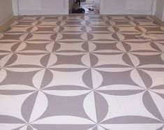 Beautiful geometric floor pattern by Victoria Stuart Burke of Connecticut's Stuart-Creal Studios.