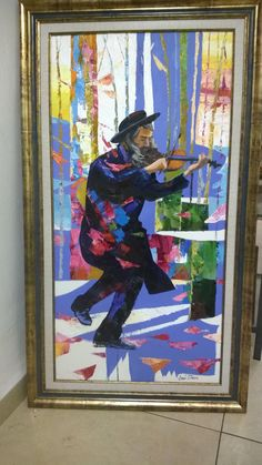 Jewish Abstract Art Jewish Violinist Oil On by art4heart2014