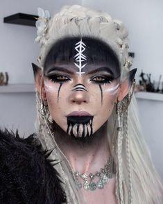 Makeup Elf, Costume Makeup, Halloween Makeup Looks, Halloween Make Up, Krieger Make-up, Viking Makeup, Warrior Makeup, Tribal Makeup, Fantasy Make Up