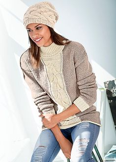 Be the knit girl of the season. Venus cable knit detail sweater.