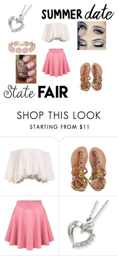 """Summer Fair"" by beautyflower2027 ❤ liked on Polyvore featuring Laidback London, BaubleBar, statefair and summerdate"