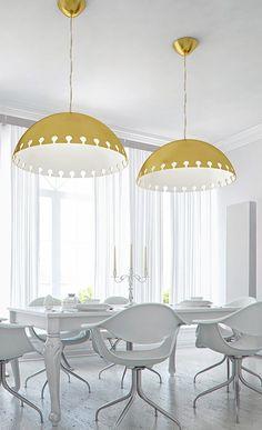 original design ceiling lamp  white gold