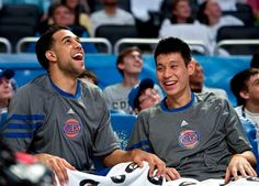 Oh you know, playing some ball, bein' pals, lookin' cute. They are adorable! Jeremy Lin, Asian American, Time Magazine, New York Knicks, Male Form, A Good Man, Beautiful People, Baseball Cards
