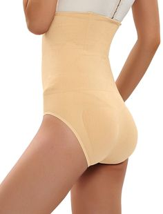 0355f6adc75a9 Women s Shapewear Hi-Waist Brief Firm Control Panty Belly Trainer Slimmer -  Nude - CU188GK290N