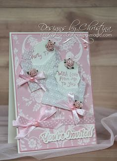 Flowers, Ribbons and Pearls: Mini Envelope Card