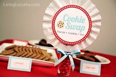 Cookie Swap Party Printable Collection {Free Printables} This will come in handy when my friends and I get together and do cookie exchange, right Georgina Vega Christmas Printables, Party Printables, Christmas Crafts, Free Printables, Christmas Ideas, Christmas Decorations, Cookie Exchange Party, Christmas Cookie Exchange, Fun Cookies
