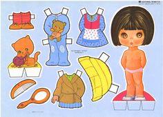 Bonecas de papel: Bonecas de papel cabeçudas III