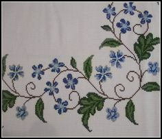 Stitch by stitch, flowers are born: The cross stitch, an art that does not die – Embroidery Desing Ideas Cross Stitch Heart, Cross Stitch Borders, Cross Stitch Flowers, Cross Stitch Designs, Cross Stitching, Cross Stitch Embroidery, Cross Stitch Patterns, Needlepoint Patterns, Embroidery Patterns Free