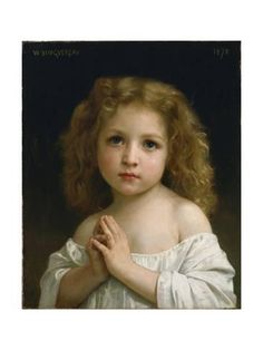 Giclee Print: Little Girl, 1878 by William-Adolphe Bouguereau : 24x18in