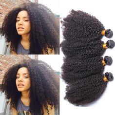 77.70 USD Natural Color Brazilian Virgin Human Hair Afro Kinky Curly Hair Weave 3 Bundles https://www.eseewigs.com/natural-color-brazilian-virgin-human-hair-afro-kinky-curly-hair-weave-3-bundles_p2611.html