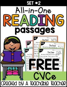 These phonics passages have it all, reading, fluency, comprehension and phonics … - Kunstunterricht Phonics Reading, Kindergarten Reading, Teaching Reading, Reading Comprehension, Comprehension Questions, Reading School, Kindergarten Blogs, Reading Tutoring, Reading Lessons