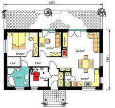 Компактна, красива и удобна дървена къща | Art senses - артистични идеи за интериор и градина Floor Plans, Floor Plan Drawing, House Floor Plans