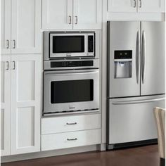 Electric Convection Wall Oven With Built In Microwave Stainless Steel Silver