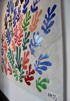 La Gerbe (The Sheaf) by Henri Matisse (1953) // Ceramic tile embedded in plaster (1869-1954) LAMCA