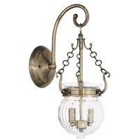 Livex Everett 2 Light Wall Sconce in Antique Brass 50501-01