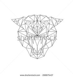 Find Panther Stylized Triangle Polygonal Model stock images in HD and millions of other royalty-free stock photos, illustrations and vectors in the Shutterstock collection. Pantera Animal, Origami Triangle, Triangle Drawing, Panther Tattoos, Arte Linear, Sword Drawing, 3d Cnc, Quilted Wall Hangings, Geometric Art