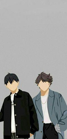 Kageyama Tobio and Oikawa Tooru Minimalist Wallpaper
