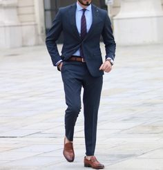 Image may contain: 1 person, standing, shoes and suit Formal Suits, Men Formal, Mens Trousers Formal, Stylish Men, Men Casual, Blazer Outfits Men, Casual Outfits, Mens Designer Shirts, Man Dressing Style