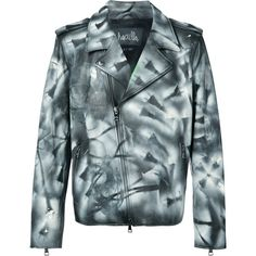 Haculla hand painted distressed jacket (€6.510) ❤ liked on Polyvore featuring men's fashion, men's clothing, men's outerwear, men's jackets, black, mens leather jackets and mens distressed leather jacket