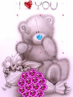 ❤️Teddy Bear GIF ~ I love you