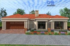 Overall Dimensions- x m Bedrooms- 2 Car Garage Area- Square meters Round House Plans, Tuscan House Plans, Free House Plans, Family House Plans, Best House Plans, Modern House Plans, House Roof Design, Flat Roof House, Facade House