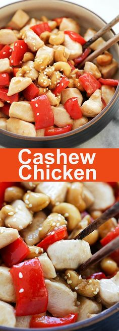 Cashew Chicken – Crazy delicious and easy cashew chicken recipe with tender and silky chicken in Chinese brown sauce. So much better than takeout | rasamalaysia.com