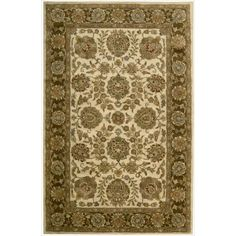 Nourison Hand-tufted Jaipur Ivory/ Brown Wool Rug (2'4 x 8'-Runner), Size 2'4 x 8'