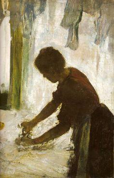 Edgar Degas - Repasseuse