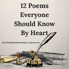 12 Poems Every Child and Adult Should Memorize and Know By Heart - Humility and Doxology Best Poems For Kids, Poetry For Kids, Kids Poems, Moon Poems, Poems About The Moon, Classic Poems, Poetry Lessons, Teaching Poetry, Pomes