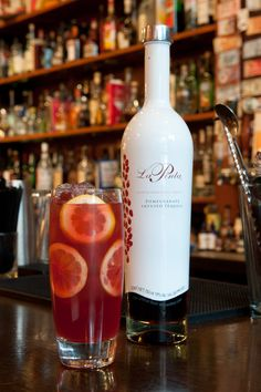 the pomerita (made with pomegranate infused tequila)