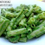 Recipe: Gluten-Free Pasta With Sausage In A Spinach Pesto Sauce - This Flourishing Life