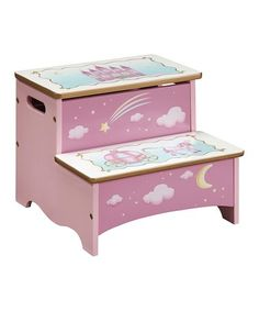 Guidecraft Princess Storage Step Stool #zulily #zulilyfinds